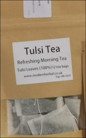 tulsi leaves tea