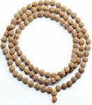 Rudraksha mala in black, natural and fresh beads.